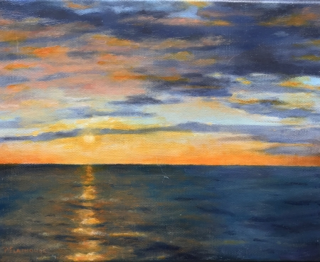 Ocean Sunset by artist Pat Flathouse
